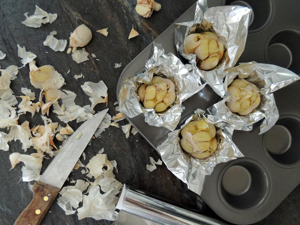 Nátierka z pečeného mäsa a pečeného cesnaku