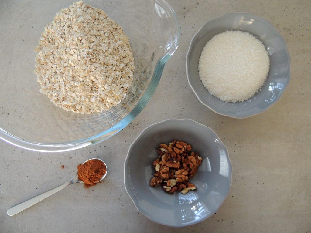Príprava ovseného koláčika