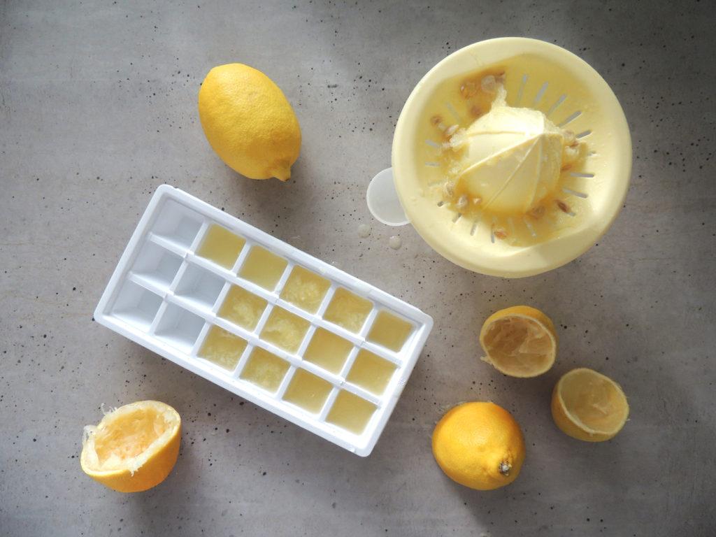 mrazenie citrónovej šťavy
