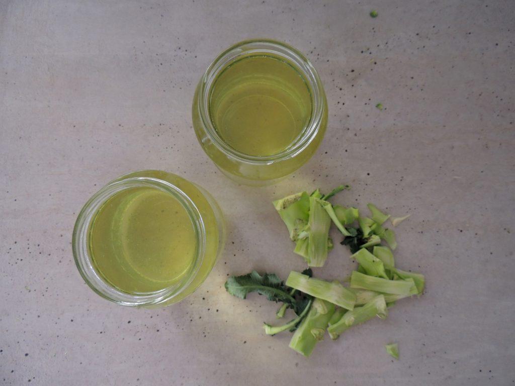 Zvyšky po varení brokolice