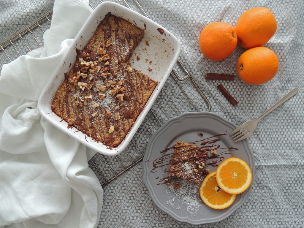 Ovsený koláčik s pomarančovou dužinou