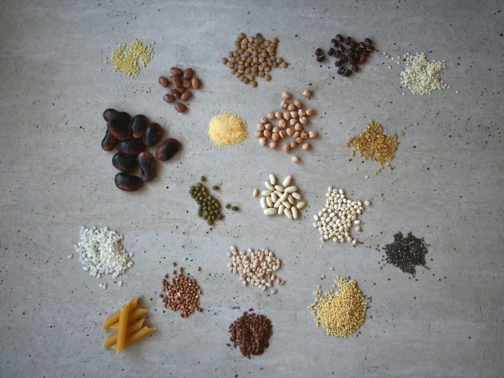 strukoviny obilniny